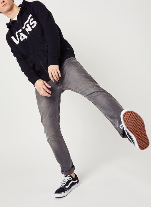 Vêtements Vans MN VANS CLASSIC ZIP HOODIE II Black/White Noir vue bas / vue portée sac