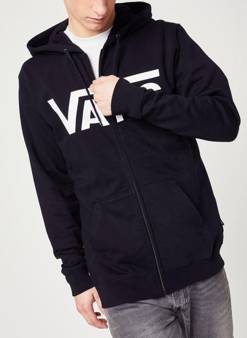Vêtements Vans MN VANS CLASSIC ZIP HOODIE II Black/White Noir vue droite