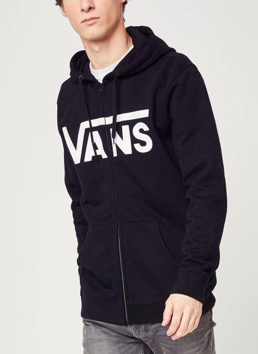 Vêtements Vans MN VANS CLASSIC ZIP HOODIE II Black/White Noir vue détail/paire