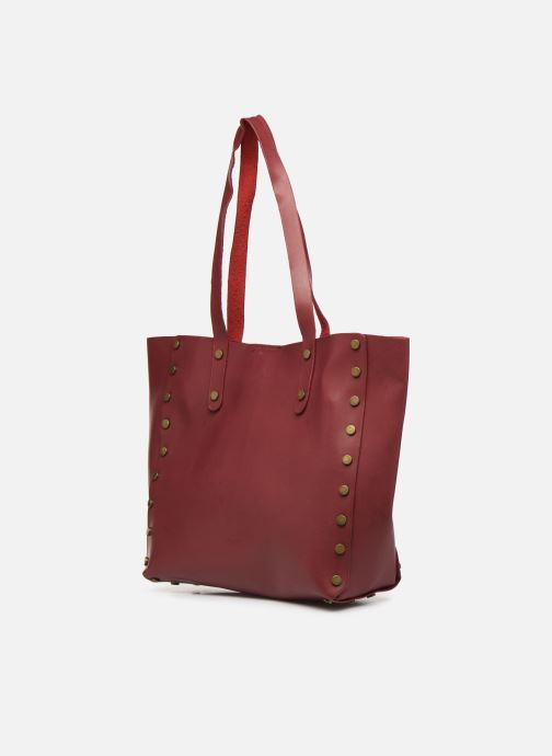 Handbags I Love Shoes LISHOP Maxi Burgundy view from the right