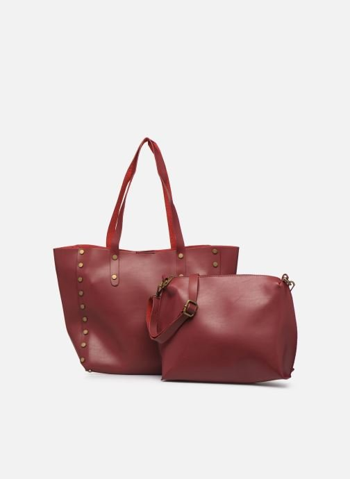 Handbags I Love Shoes LISHOP Maxi Burgundy view from the left