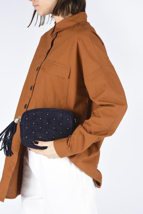 Bolsos de mano Georgia Rose Micloute Leather Azul vista de abajo