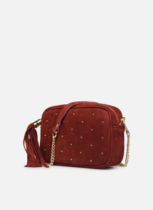 Bolsos de mano Georgia Rose Micloute Leather Rojo vista del modelo