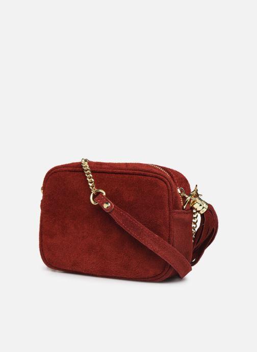 Handtaschen Georgia Rose Micloute Leather rot ansicht von rechts