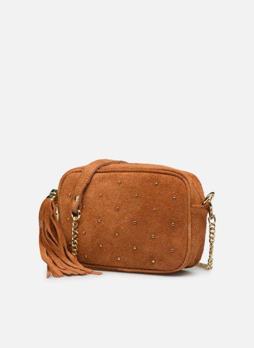 Bolsos de mano Georgia Rose Micloute Leather Marrón vista del modelo
