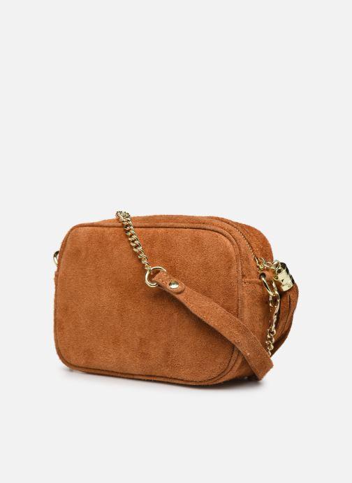 Bolsos de mano Georgia Rose Micloute Leather Marrón vista lateral derecha