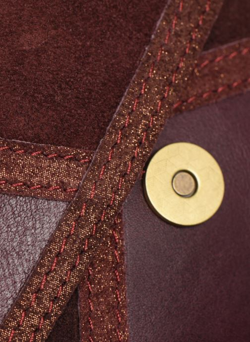 Sacs à main Georgia Rose Moulia Leather Bordeaux vue gauche