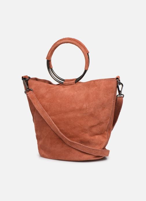 Handbags Georgia Rose Maty Leather Orange view from the right