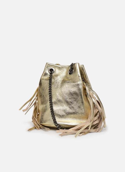 Handbags Georgia Rose Minifrange Leather Bronze and Gold view from the right