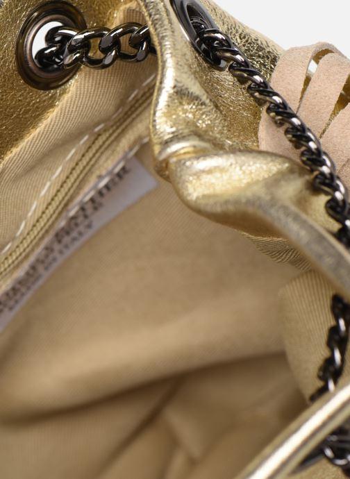 Bolsos de mano Georgia Rose Minifrange Leather Oro y bronce vistra trasera