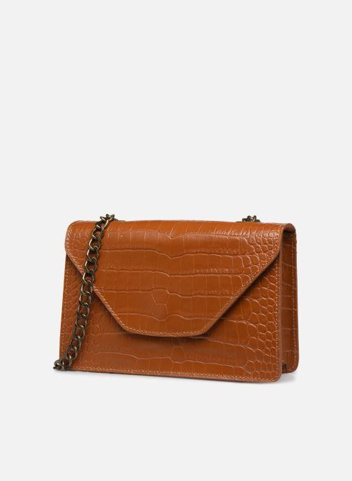 Bolsos de mano Georgia Rose Many Leather Marrón vista del modelo