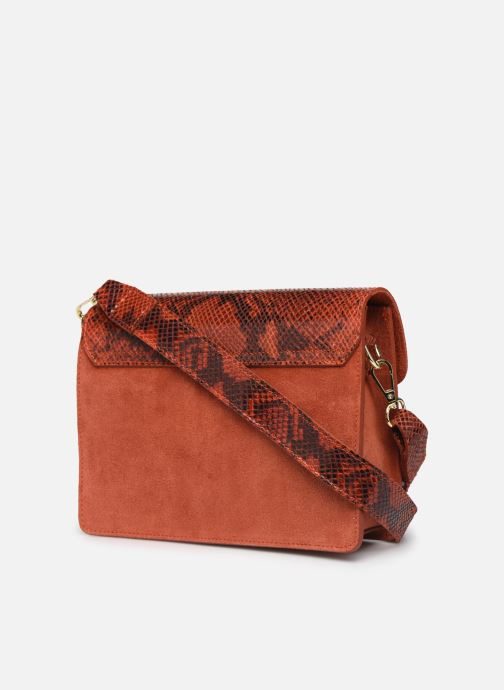 Handbags Georgia Rose Monpython Leather Red view from the right