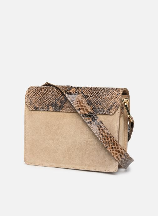 Sacs à main Georgia Rose Monpython Leather Beige vue droite