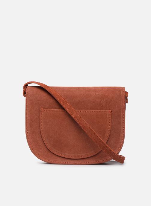 Håndtasker Georgia Rose Manou Leather Orange se forfra