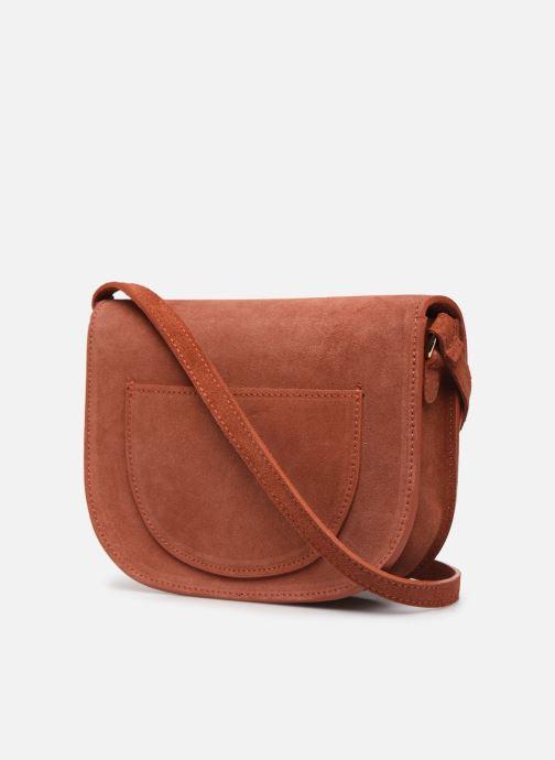 Håndtasker Georgia Rose Manou Leather Orange Se fra højre
