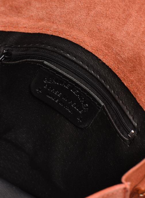 Håndtasker Georgia Rose Manou Leather Orange se bagfra