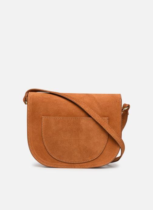 Handbags Georgia Rose Mariska Leather Brown front view