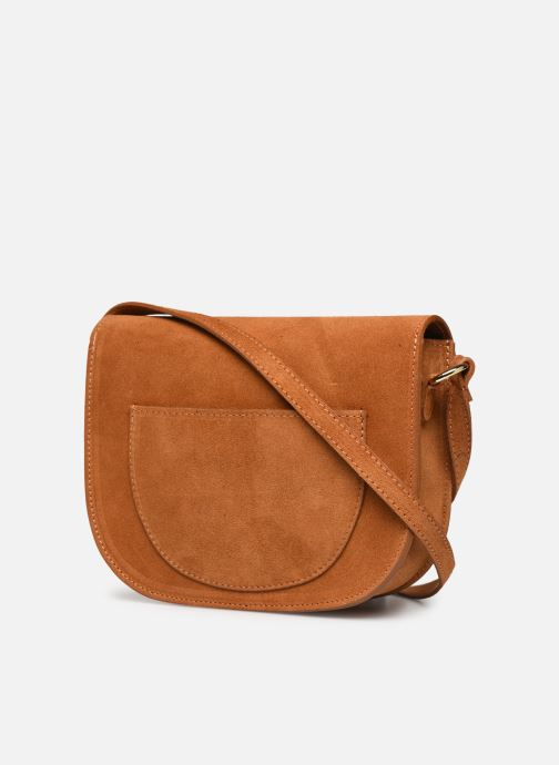 Handbags Georgia Rose Mariska Leather Brown view from the right