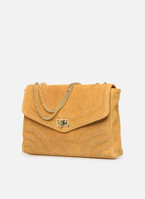 Bolsos de mano Georgia Rose Mery Medium Leather Amarillo vista del modelo