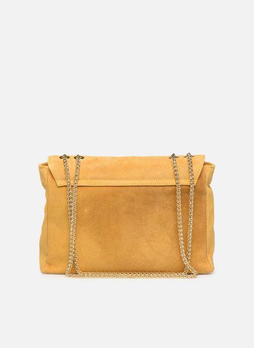 Håndtasker Georgia Rose Mery Medium Leather Gul se forfra