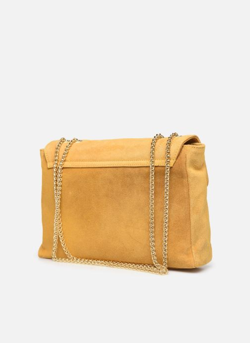 Handbags Georgia Rose Mery Medium Leather Yellow view from the right