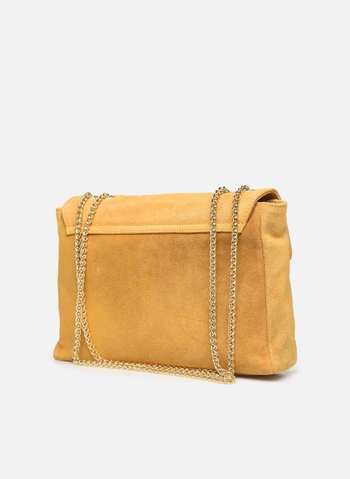 Bolsos de mano Georgia Rose Mery Medium Leather Amarillo vista lateral derecha