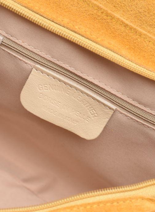 Handbags Georgia Rose Mery Medium Leather Yellow back view