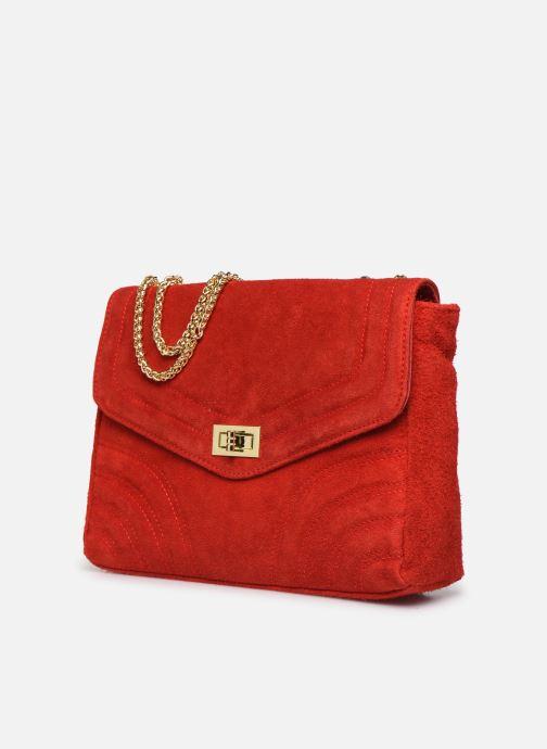 Borse Georgia Rose Mery Medium Leather Rosso modello indossato