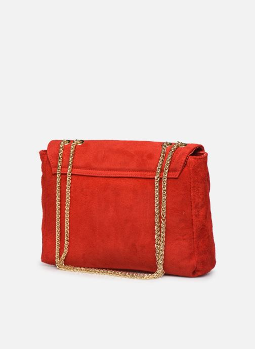 Handbags Georgia Rose Mery Medium Leather Red view from the right
