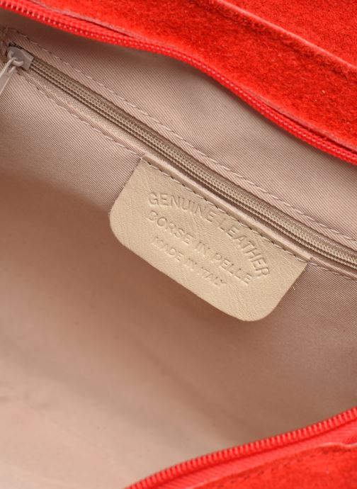 Handtassen Georgia Rose Mery Medium Leather Rood achterkant