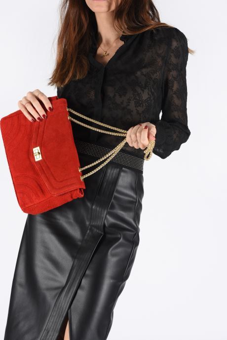 Handbags Georgia Rose Mery Medium Leather Red view from underneath / model view