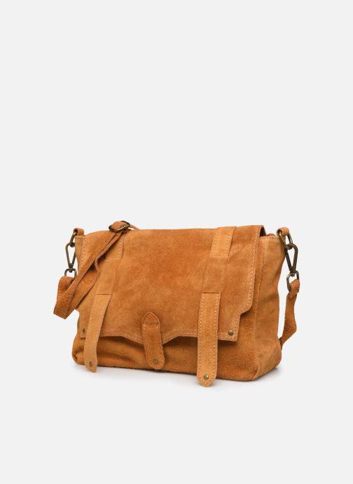 Handbags Georgia Rose Moncartable Leather Yellow model view