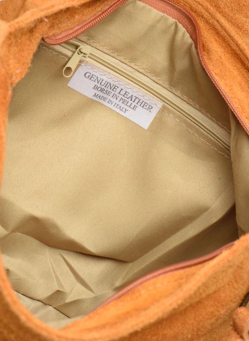 Handtassen Georgia Rose Moncartable Leather Geel achterkant