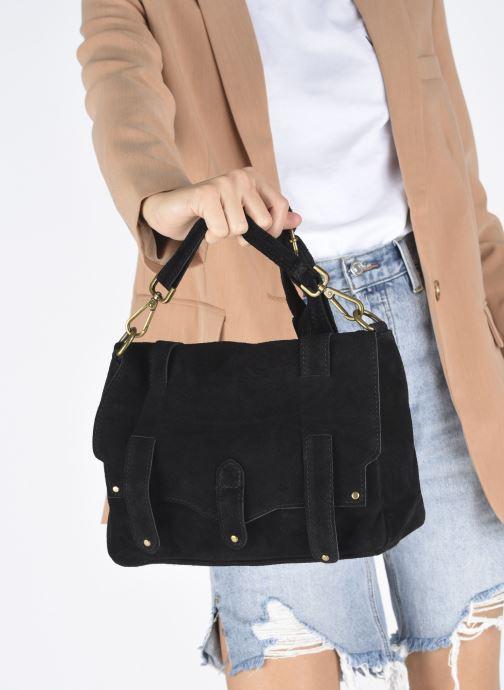 Sacs à main Georgia Rose Moncartable Leather Noir vue bas / vue portée sac