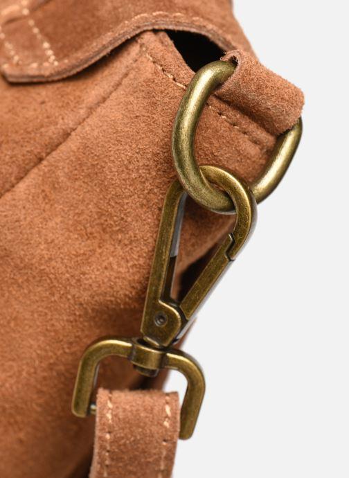 Bolsos de mano Georgia Rose Moncartable Leather Marrón vista lateral izquierda