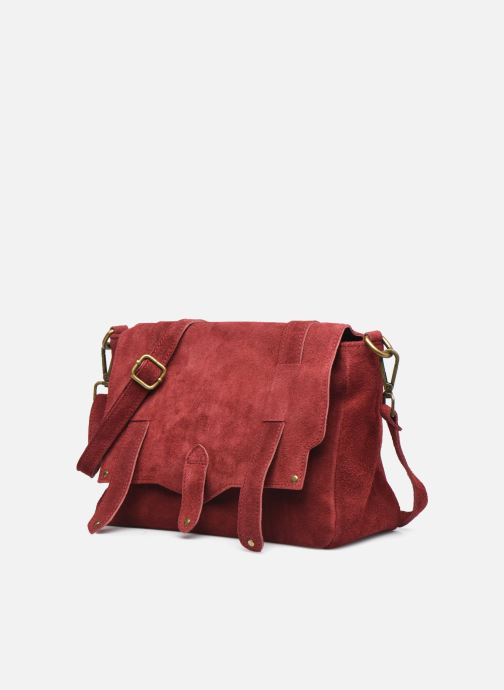 Bolsos de mano Georgia Rose Moncartable Leather Rojo vista del modelo