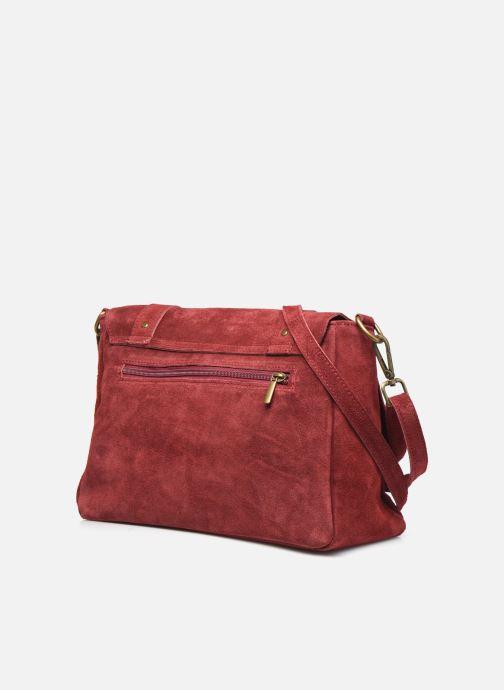 Bolsos de mano Georgia Rose Moncartable Leather Rojo vista lateral derecha