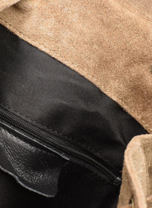 Rugzakken Georgia Rose Midos Leather Goud en brons achterkant