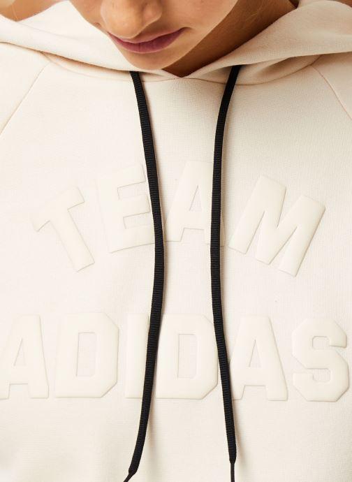 Vêtements adidas performance W VRCT Hoodie Beige vue face