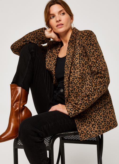 Vêtements Vila VIJUNILAANIMALA L/S BLAZER Marron vue détail/paire