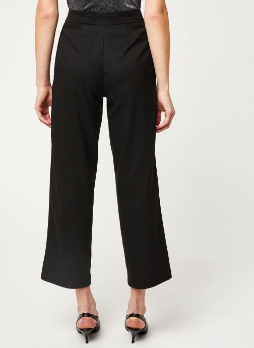 Vêtements Vila VIFABE 7/8 RWRX WIDE PANTS Noir vue portées chaussures