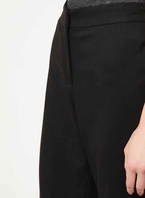 Vêtements Vila VIFABE 7/8 RWRX WIDE PANTS Noir vue face