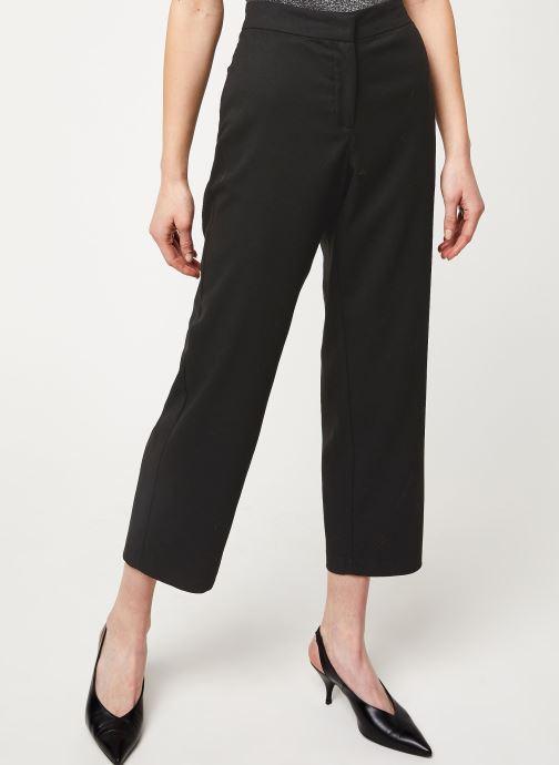 Vêtements Vila VIFABE 7/8 RWRX WIDE PANTS Noir vue détail/paire