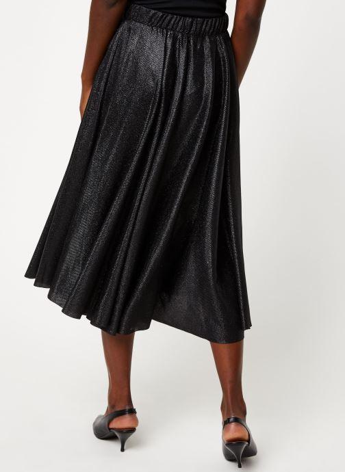 Vêtements Vila VILENA NEW MIDI SKIRT Noir vue portées chaussures