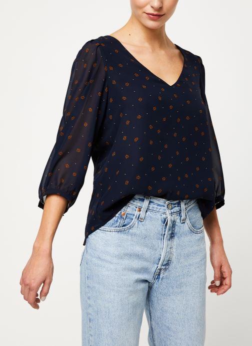 Tøj Vila VIANNET FEUILLE 3/4 TOP/L Blå detaljeret billede af skoene