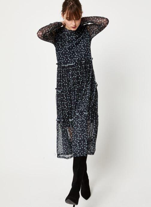 Vêtements Noisy May NMSHIMMY STRIPE L/S DRESS Noir vue bas / vue portée sac