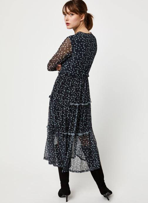 Vêtements Noisy May NMSHIMMY STRIPE L/S DRESS Noir vue portées chaussures
