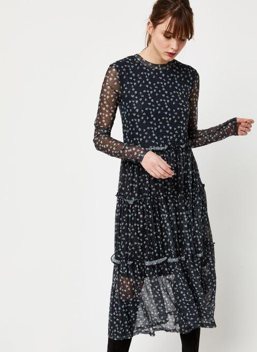 Vêtements Noisy May NMSHIMMY STRIPE L/S DRESS Noir vue droite