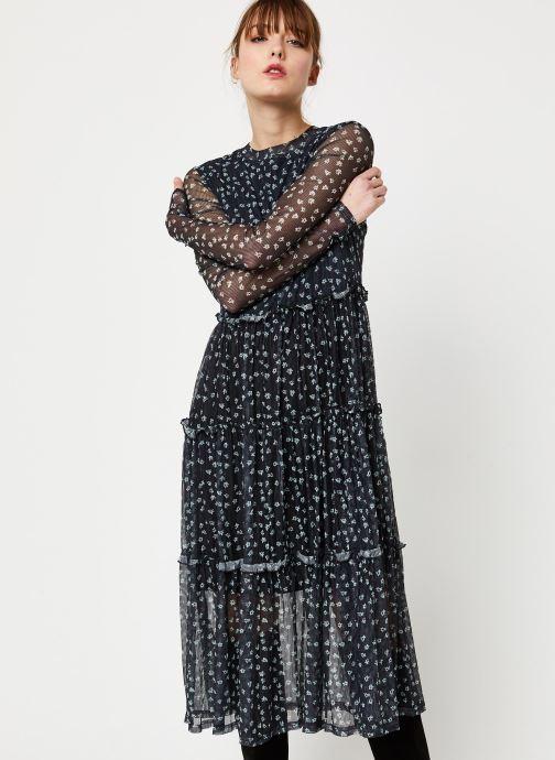 Vêtements Noisy May NMSHIMMY STRIPE L/S DRESS Noir vue détail/paire