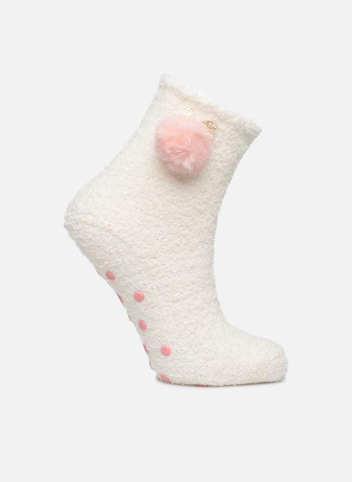 Chaussettes et collants Sarenza Wear Chaussons chaussettes anti-dérapantes à pompon Femme Rose vue détail/paire